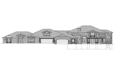 5-Bedroom, 8982 Sq Ft Luxury House Plan - 125-1045 - Front Exterior