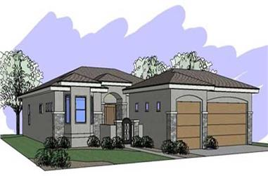4-Bedroom, 2152 Sq Ft Contemporary Home Plan - 125-1046 - Main Exterior