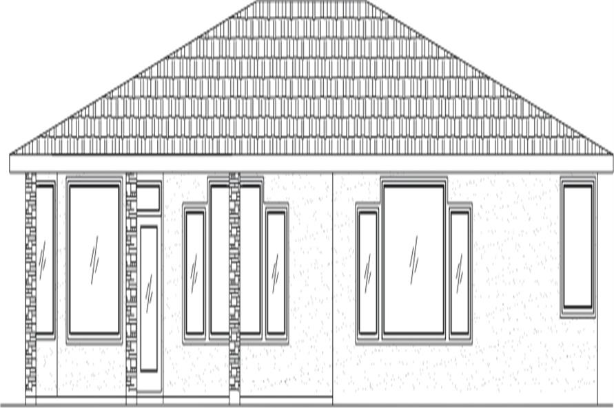 125-1048 house plan rear elevation