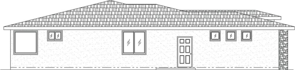 125-1048 house plan left elevation