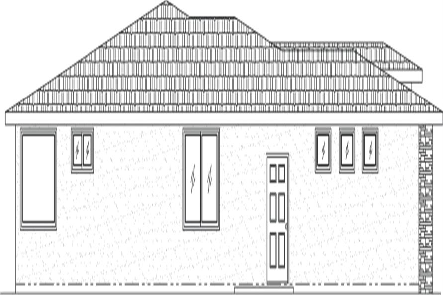 Home Plan Left Elevation of this 3-Bedroom,1969 Sq Ft Plan -125-1048