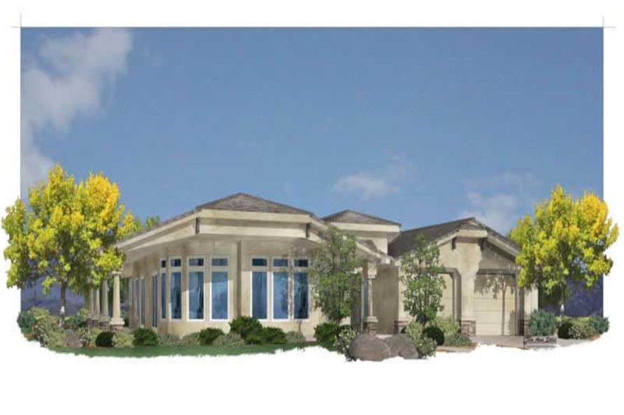 2-Bedroom, 2318 Sq Ft Mediterranean House Plan - 125-1149 - Front Exterior