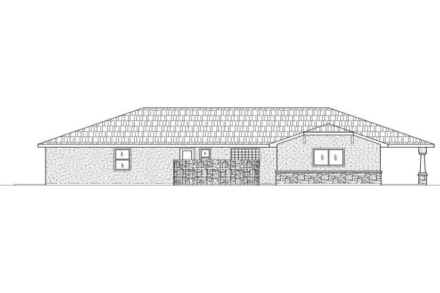 Home Plan Rear Elevation of this 2-Bedroom,2318 Sq Ft Plan -125-1149