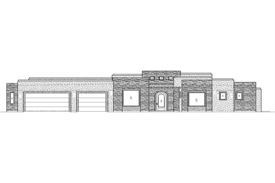 4-Bedroom, 3583 Sq Ft Southwest Home Plan - 125-1161 - Main Exterior