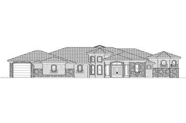 4-Bedroom, 4414 Sq Ft Southwest Home Plan - 125-1168 - Main Exterior