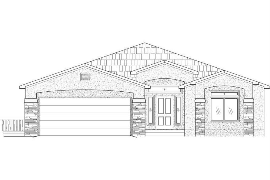 3-Bedroom, 3728 Sq Ft Southwest Home Plan - 125-1169 - Main Exterior