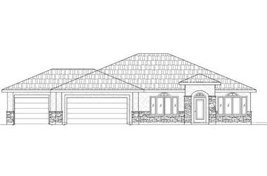 4-Bedroom, 1887 Sq Ft Southwest Home Plan - 125-1170 - Main Exterior
