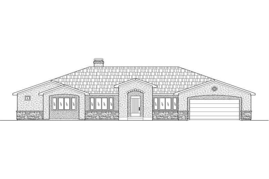 4-Bedroom, 5516 Sq Ft Luxury Home Plan - 125-1177 - Main Exterior