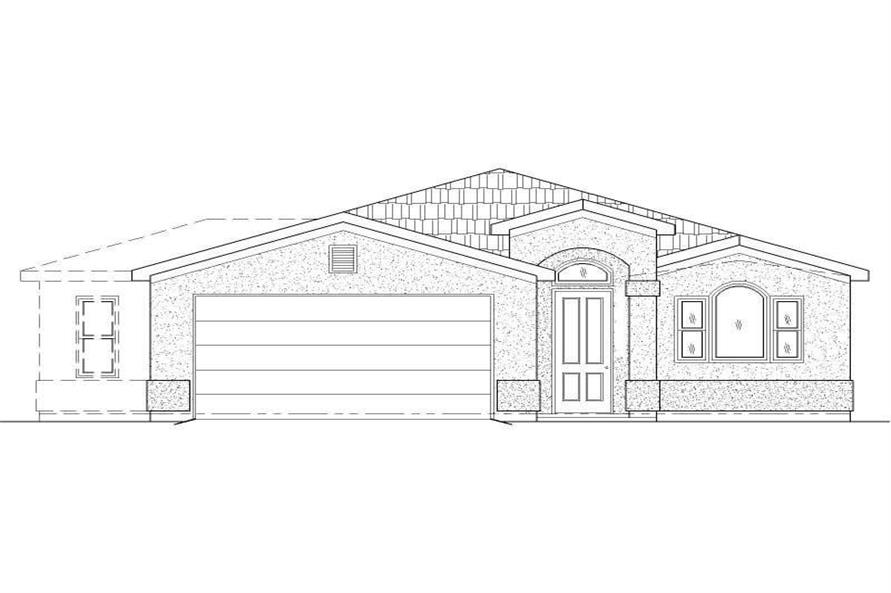 2-Bedroom, 1221 Sq Ft Small House Plans - 125-1179 - Main Exterior