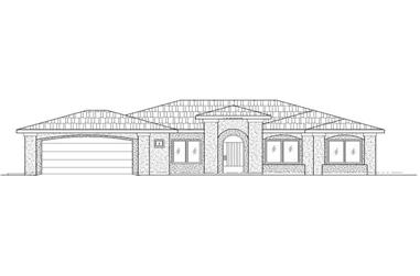 4-Bedroom, 1765 Sq Ft Southwest House Plan - 125-1181 - Front Exterior