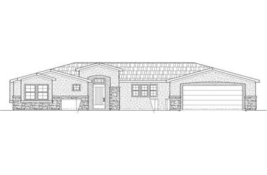 3-Bedroom, 1556 Sq Ft Southwest Home Plan - 125-1183 - Main Exterior