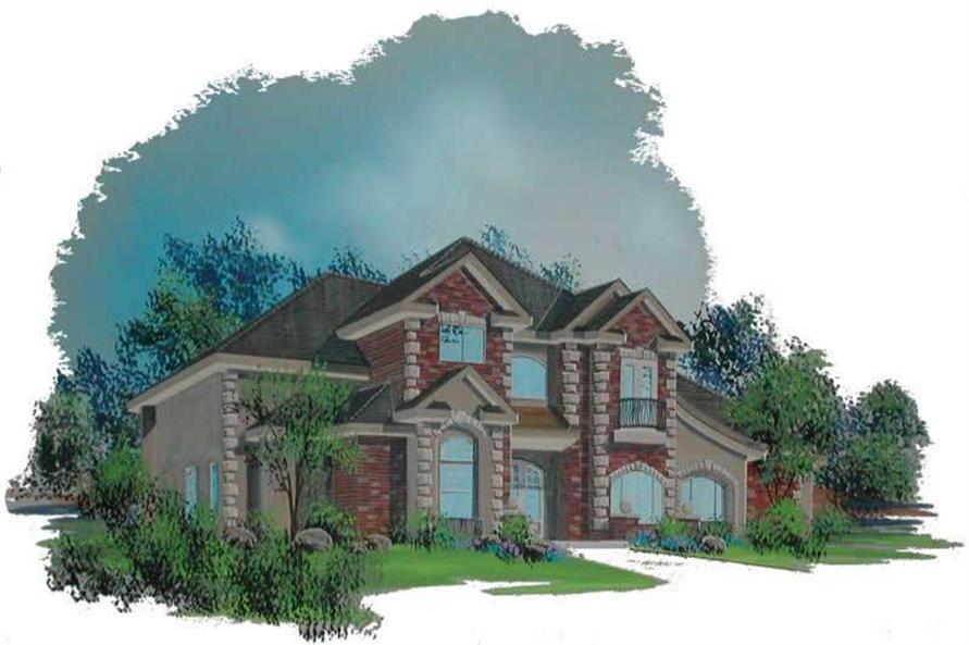 2-Bedroom, 3775 Sq Ft Southwest House Plan - 125-1189 - Front Exterior