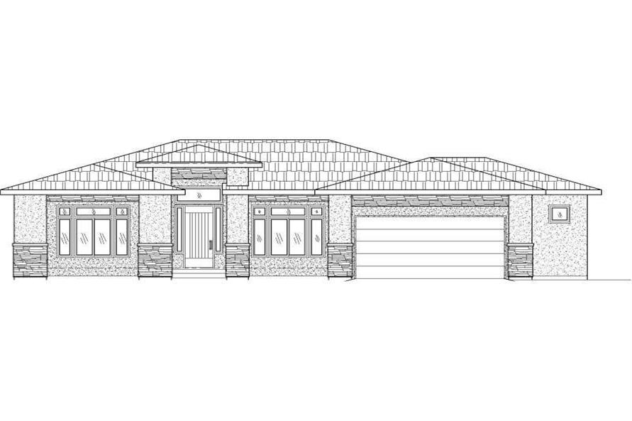 3-Bedroom, 2132 Sq Ft Contemporary House Plan - 125-1198 - Front Exterior