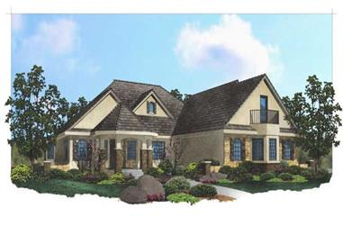 5-Bedroom, 5477 Sq Ft Luxury House Plan - 125-1199 - Front Exterior