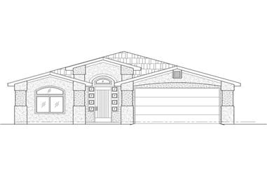 3-Bedroom, 1417 Sq Ft Small House Plans - 125-1207 - Front Exterior