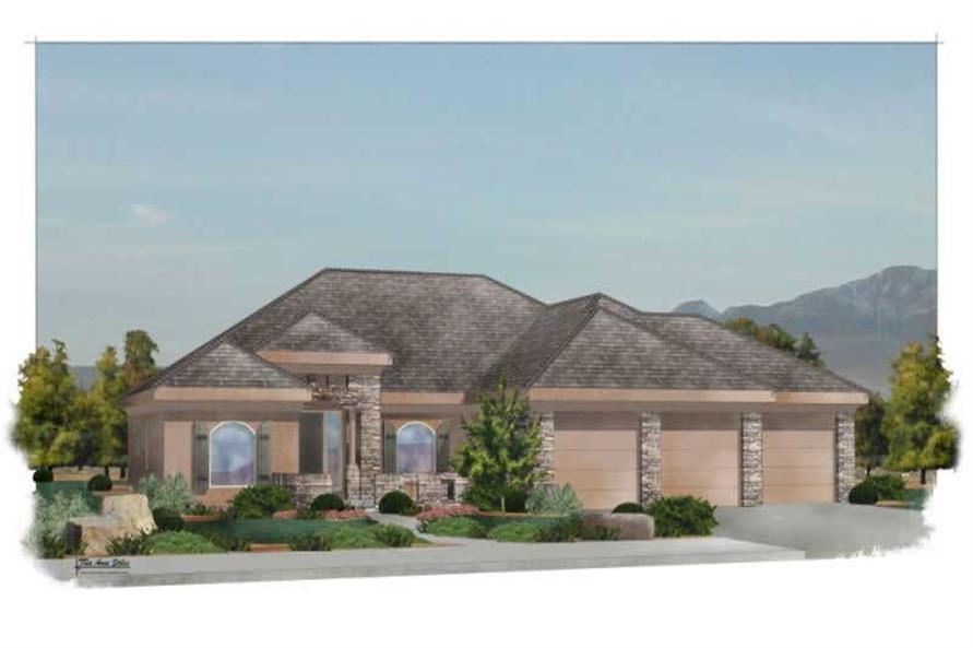 4-Bedroom, 2308 Sq Ft Southwest Home Plan - 125-1209 - Main Exterior