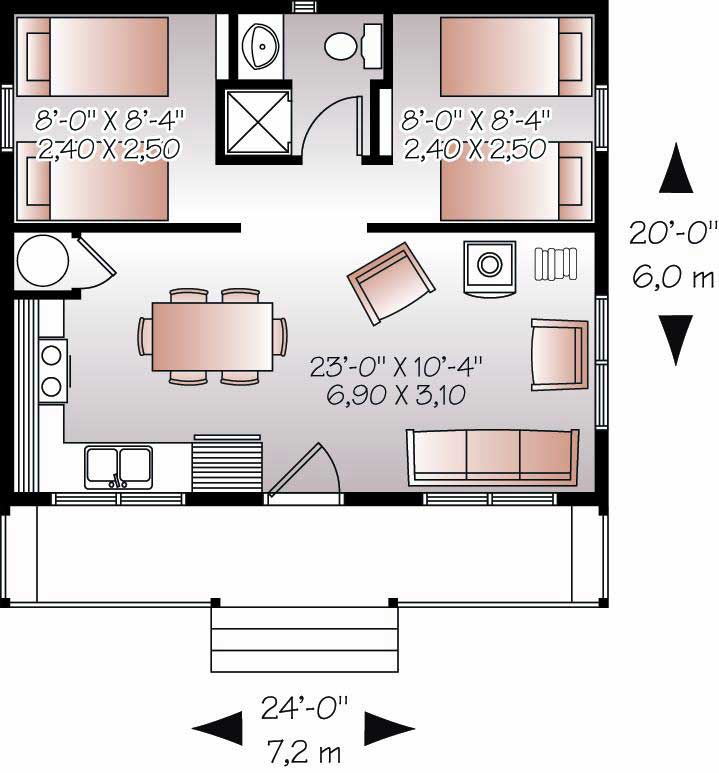 Small vacation home plans or tiny house home design for 126 simcoe floor plan