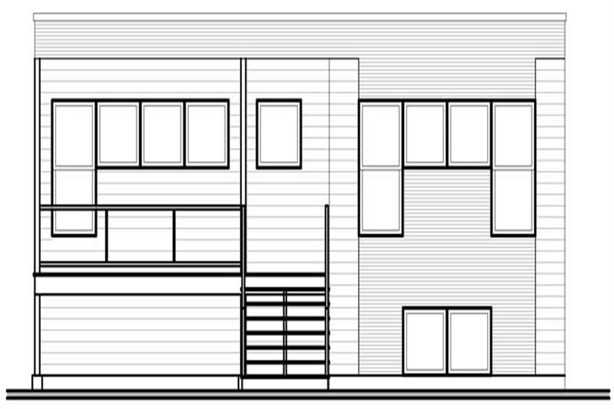 Home Plan Rear Elevation of this 2-Bedroom,1372 Sq Ft Plan -126-1010