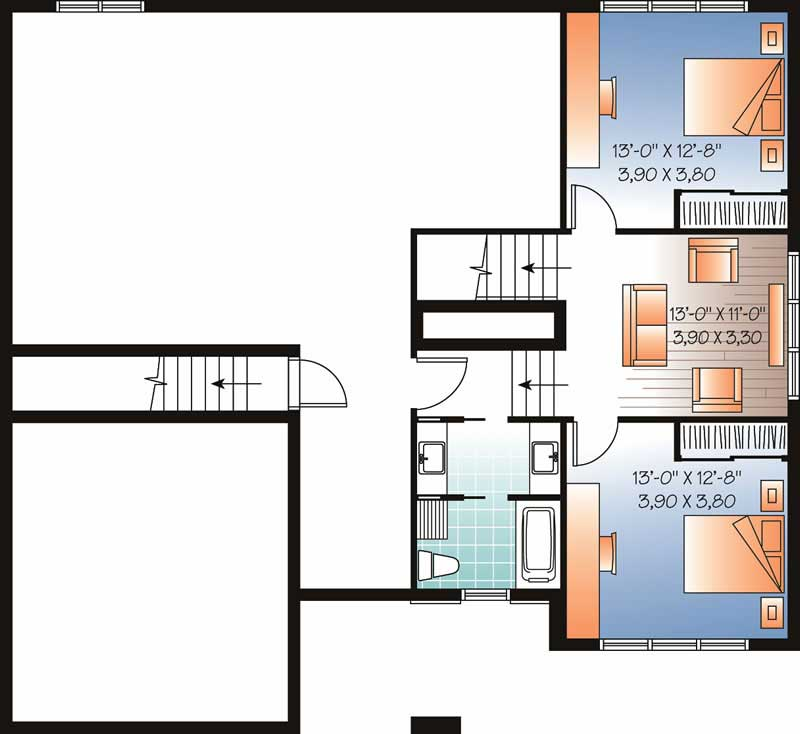homeplan dd-3547 Basement