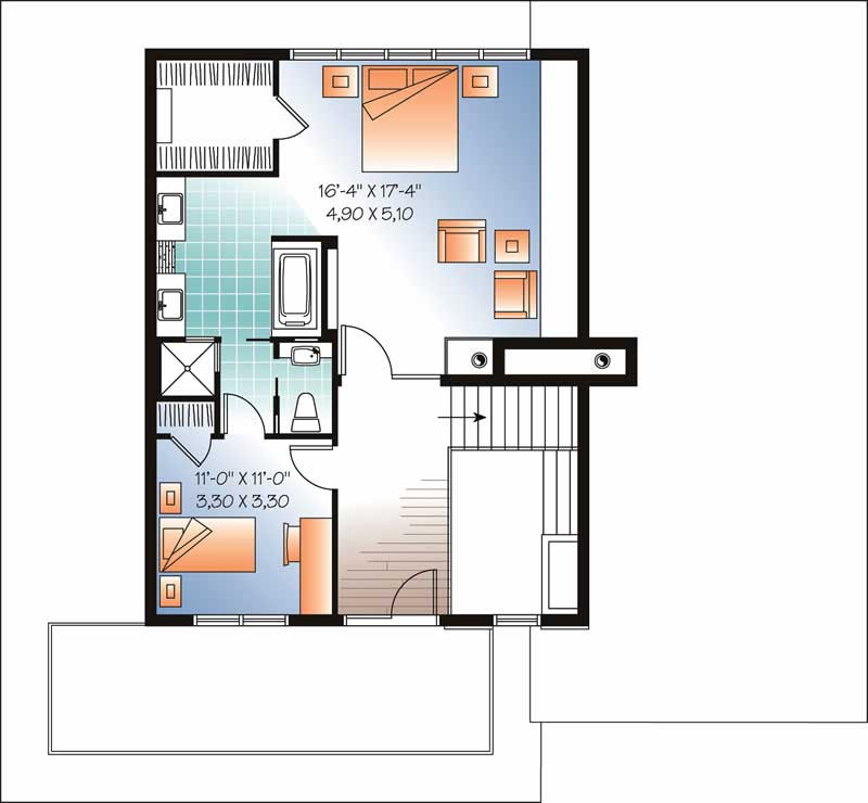 houseplan dd-3457 Second story