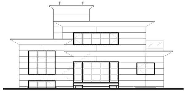 houseplan dd-3457 Rear Elevation