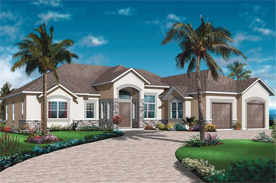 3-Bedroom, 2495 Sq Ft Ranch Home Plan - 126-1014 - Main Exterior