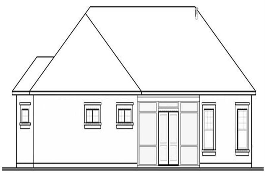 Home Plan Rear Elevation of this 3-Bedroom,2495 Sq Ft Plan -126-1014