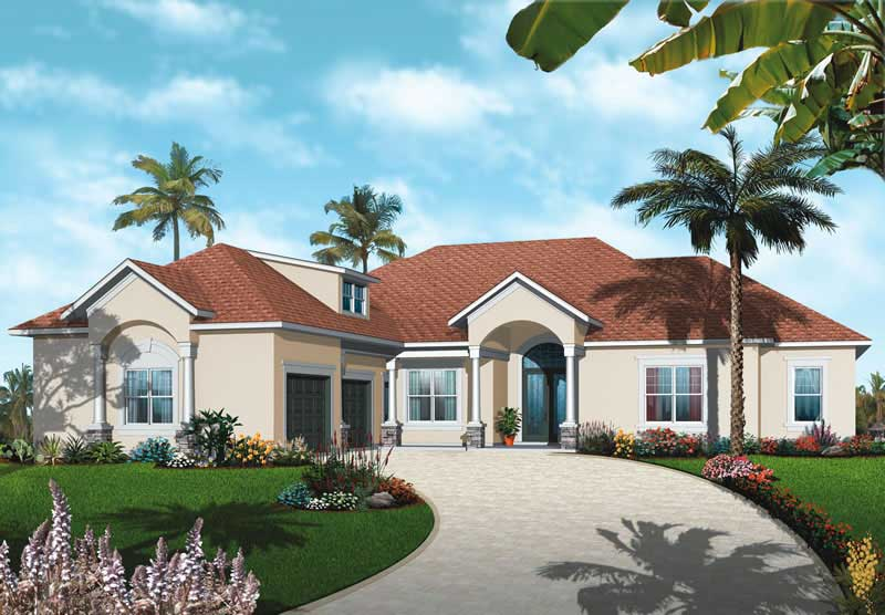 Mediterranean Bungalow House Plans Home Design Dd 3257