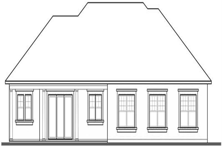 houseplan dd-3257 Rear Elevation