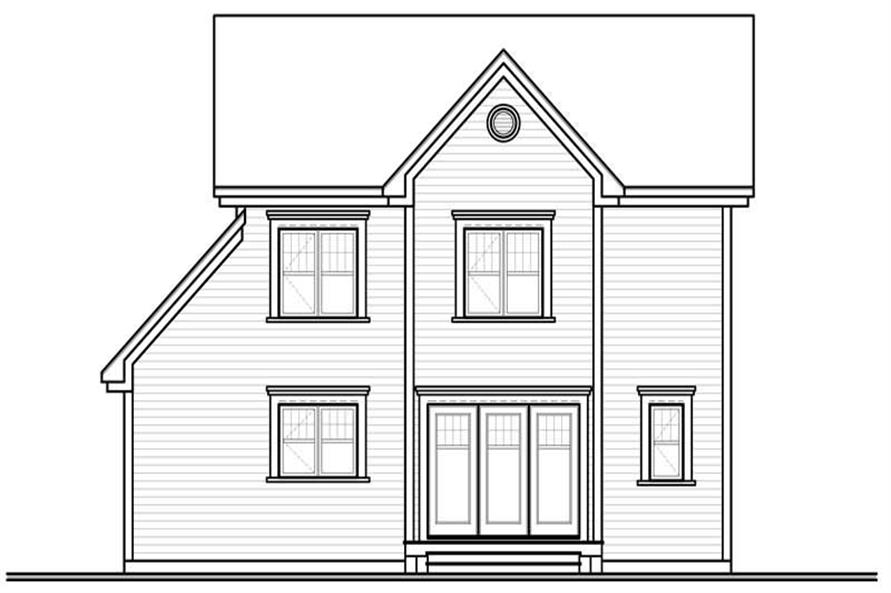 Home Plan Rear Elevation of this 3-Bedroom,1824 Sq Ft Plan -126-1017