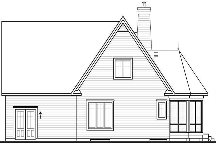 Home Plan Front Elevation of this 3-Bedroom,1697 Sq Ft Plan -126-1018