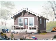 This is a computer rendering of these Vacation Home Small House Plans.