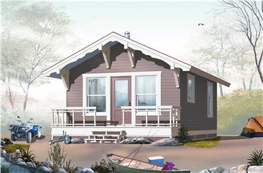 1-Bedroom, 384 Sq Ft Small House - Plan #126-1021 - Front Exterior