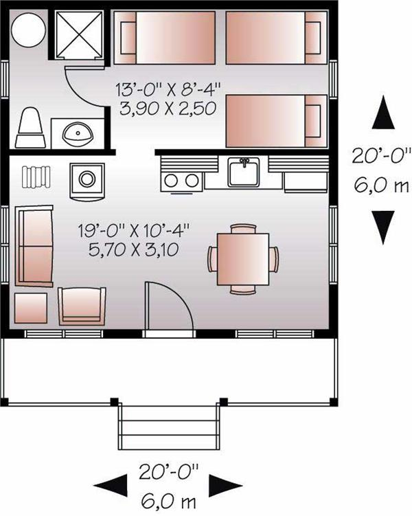 Top 5 of floor plans for tiny houses 200 to 400 sq ft my for 400 sq ft house floor plan