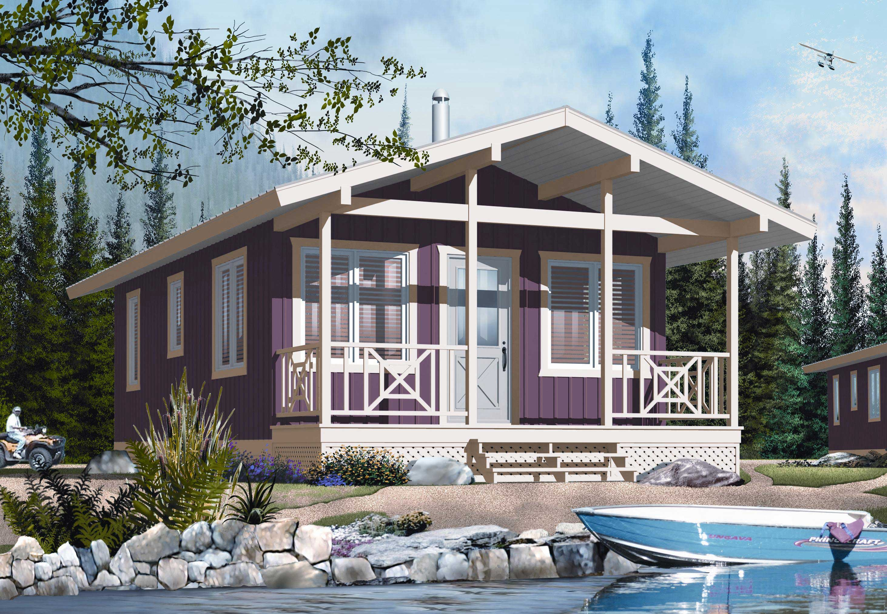 Tiny Home Designs: Vacation Home Design DD-1905