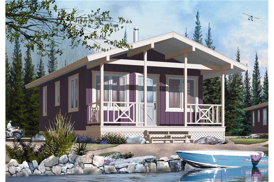 Vacation House Summer Getaway Holiday Home Design: Vacation Home Design DD-1905