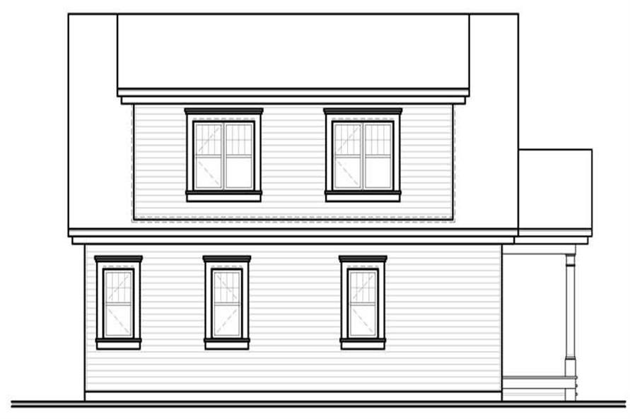 homeplan dd-3514 rear elevation