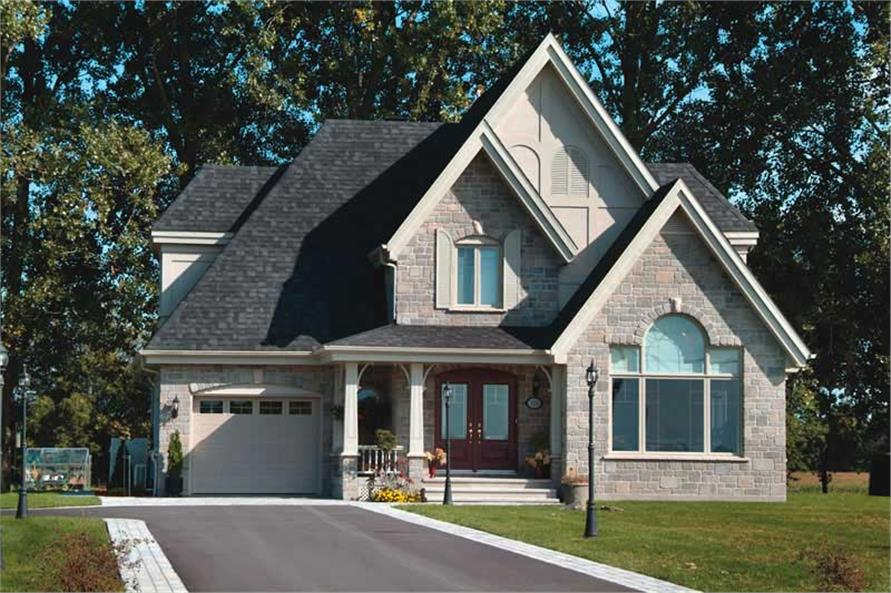 3-Bedroom, 1826 Sq Ft Country Home Plan - 126-1031 - Main Exterior