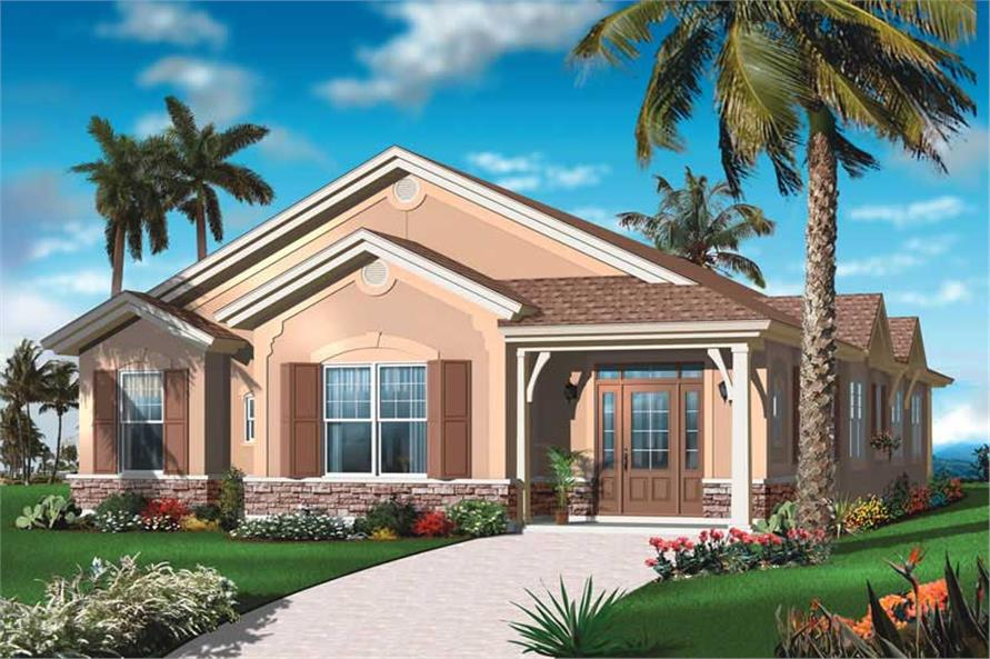 4-Bedroom, 2336 Sq Ft Bungalow House Plan - 126-1032 - Front Exterior