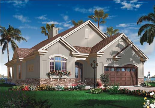 Mediterranean bungalow house plans home design dd 3251 for Mediterranean bungalow house designs