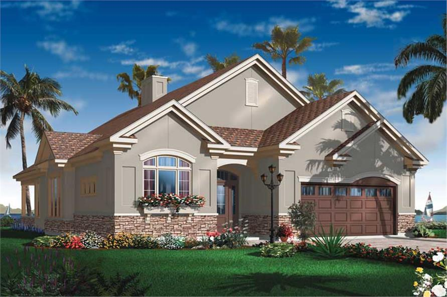 Mediterranean Bungalow House Plans Home Design Dd 3251