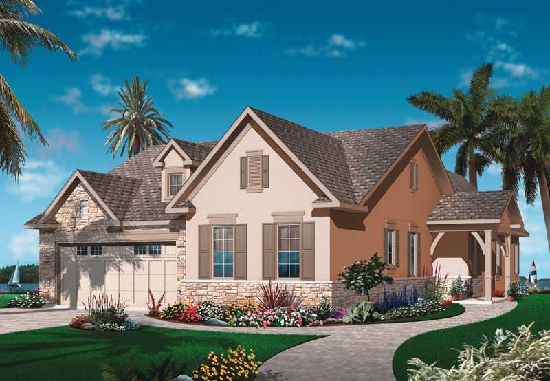 Mediterranean Bungalow House Plans Home Design Dd 3252