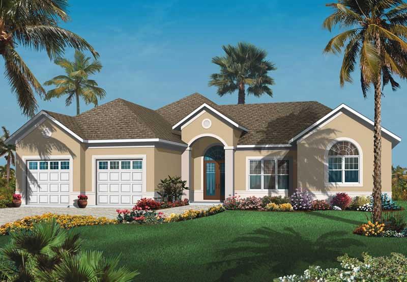 Mediterranean bungalow house plans home design dd 3258 for Mediterranean bungalow house designs
