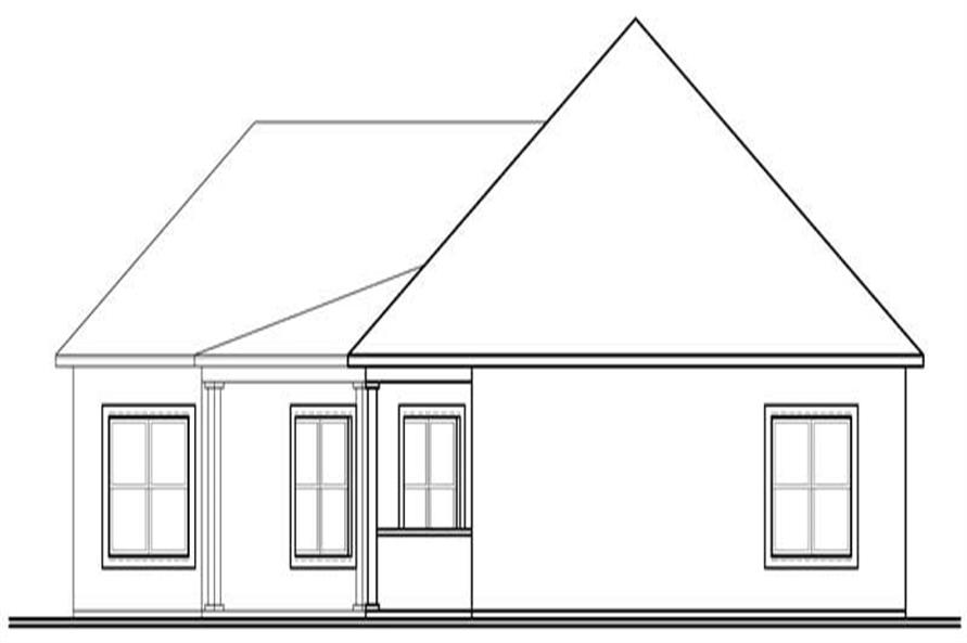 Home Plan Rear Elevation of this 3-Bedroom,2388 Sq Ft Plan -126-1035