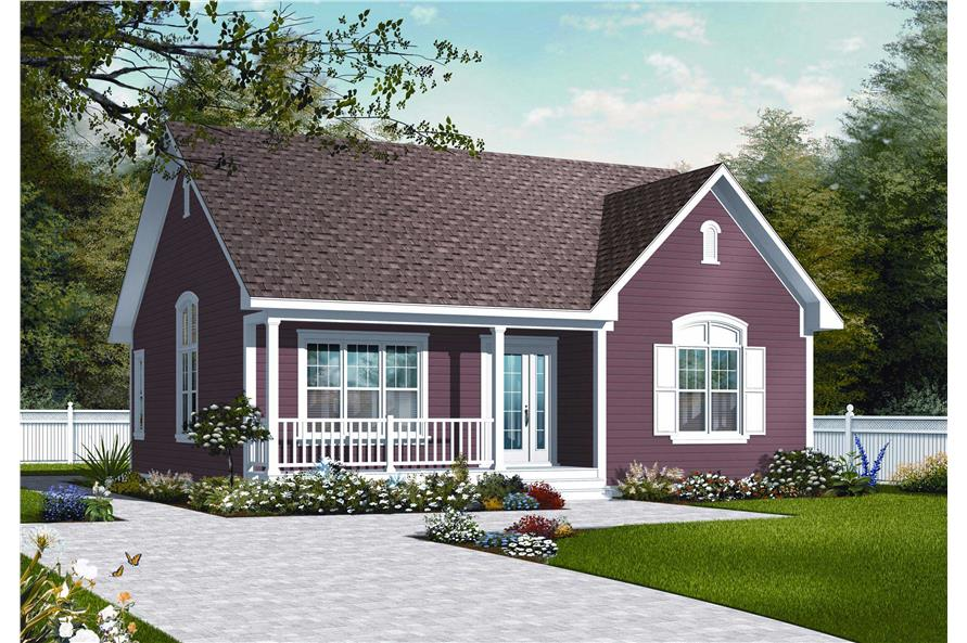 2-Bedroom, 1113 Sq Ft Country House Plan - 126-1040 - Front Exterior