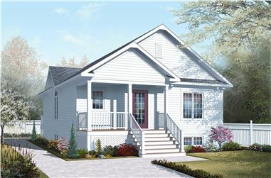 2-Bedroom, 1042 Sq Ft Country House Plan - 126-1042 - Front Exterior