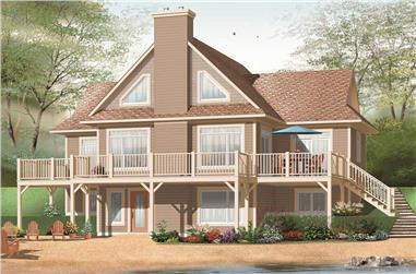 4-Bedroom, 3147 Sq Ft In-Law Suite House Plan - 126-1044 - Front Exterior