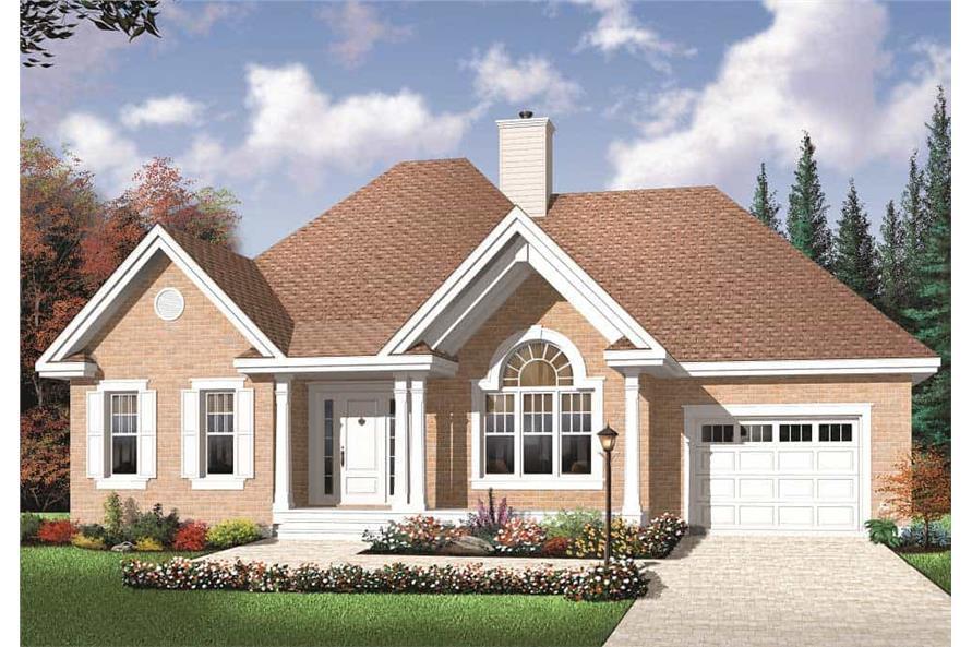 Home Plan Rendering of this 2-Bedroom,1186 Sq Ft Plan -1186