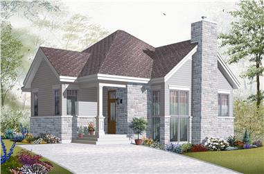 This is the front elevation for these House Plans.