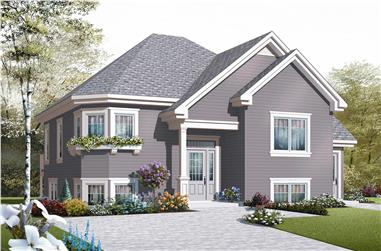 4-Bedroom, 1981 Sq Ft In-Law Suite Home Plan - 126-1047 - Main Exterior